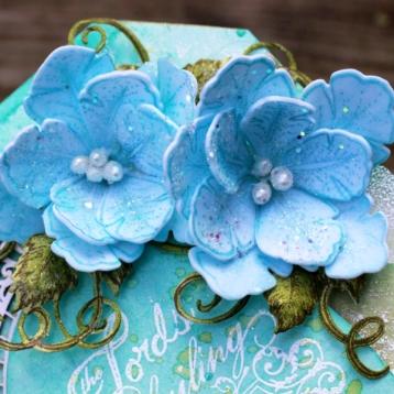 heartfelt foam paper flowers